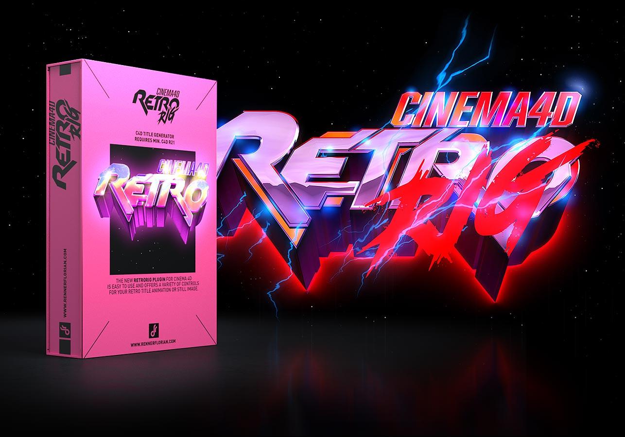RetroRIG - C4D Title Generator