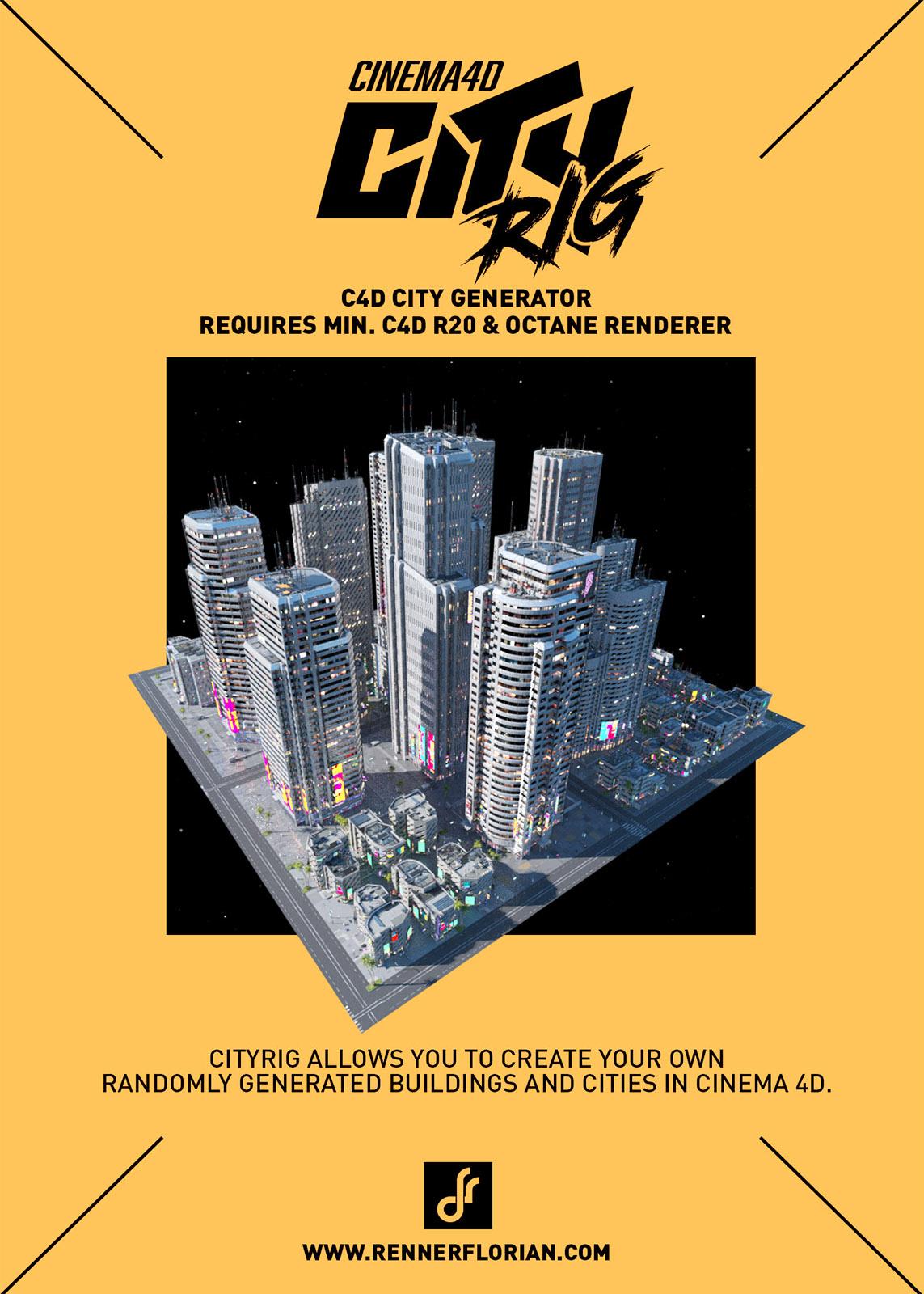 CityRIG - Cinema 4D City Generator